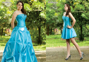 Exemplo de vestido de debutante 2 em 1
